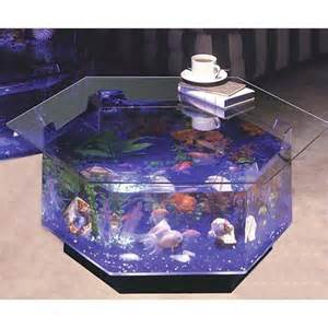 Aqua Octagon Coffee Table 40 Gallon Aquarium   Walmart.com