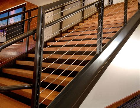 Cable Stair Railing Galvanized Steel Cable Railing Wa Husky Stadium Sc