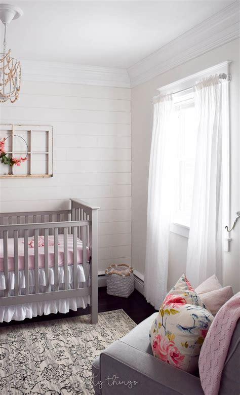 farmhouse nursery how to update an curtain rod