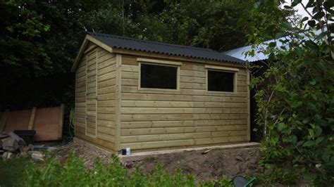 Garden Shed Roof by Garden Shed 10ft X 11ft Onduline Roof The Wooden