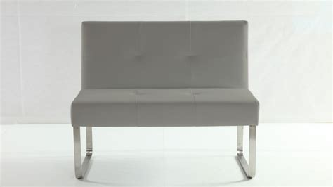 grey dining bench upholstered grey leather dining bench with backrest metal legs