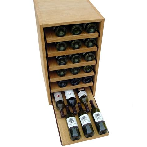 Wine Shelf by 36 Bottle Showcase Pull Out Wooden Wine Rack Wine Racks