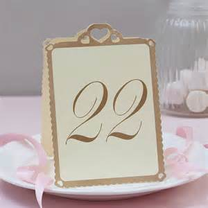table numbers for wedding wedding table numbers ivory and gold 13 to 24 by notonthehighstreet