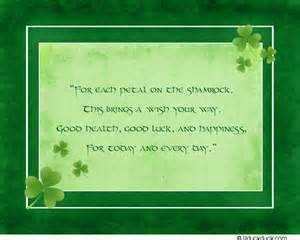 blessing cards shamrock petals thank you card blessing custom message