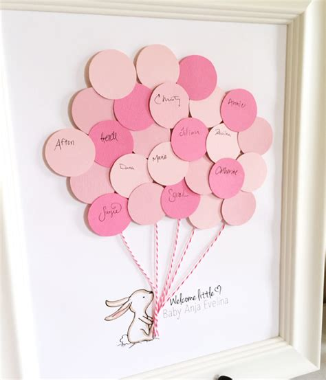 Baby Shower Guestbook by Bunny Baby Shower Guest Book Printable Aspen