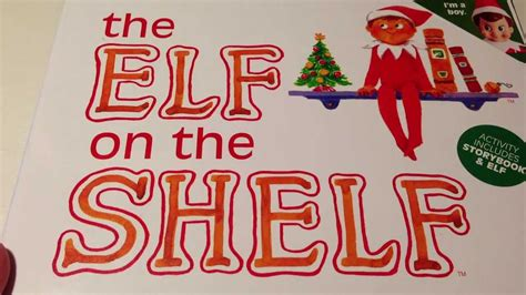 printable elf on a shelf book elf on the shelf book review youtube