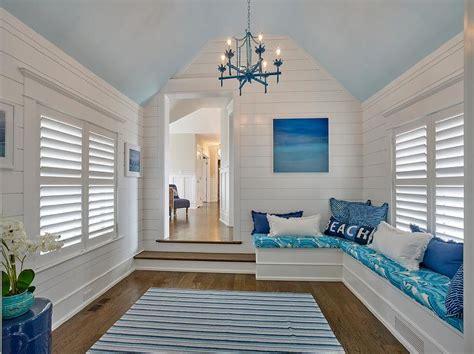 Shiplap Cottage Striped Navy Blue Patio Cushions Design Decor Photos