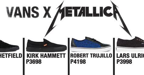 metallica x vans vans x metallica skate shoes ph manila s 1