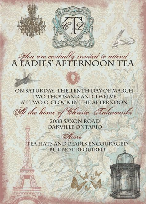 Vintage Tea Bridal Shower Invitations by Vintage Tea Bridal Shower Invitation With By