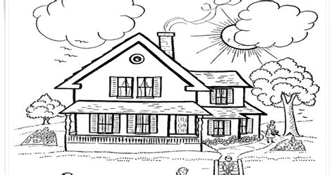 contoh gambar mewarnai gambar rumah mewah kataucap