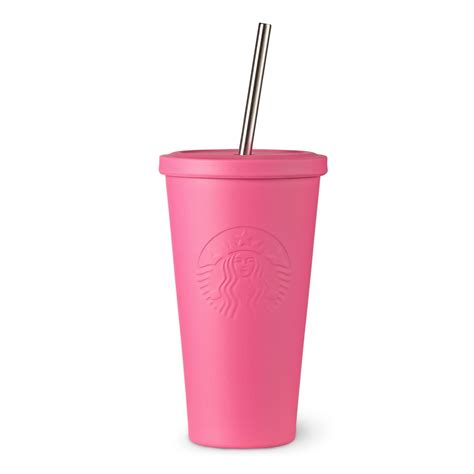 Starbucks Tumbler Stainless Steel Pink Cold Cup Summer Edition 2017 ss coldcup tumbler pink 16oz summer us ko jpg sw 1200 sf