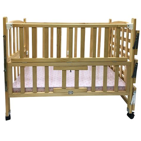 solid wood baby bed child classic wooden baby cot