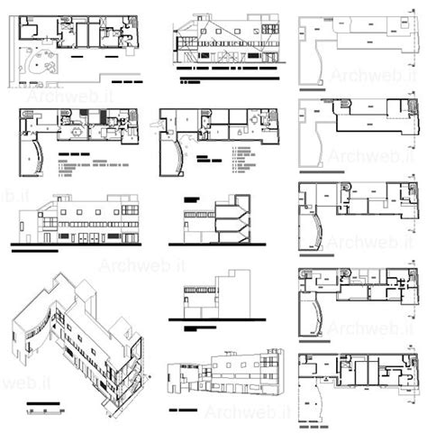 villa savoye floor plans pen by nahekul flickr corbusier maison roche jeanneret dwg archi pinterest