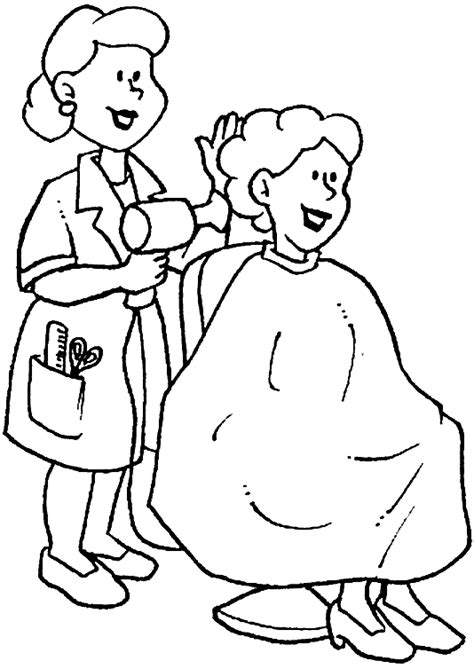 coloring pages hair stylist hair stylist coloring coloring pages