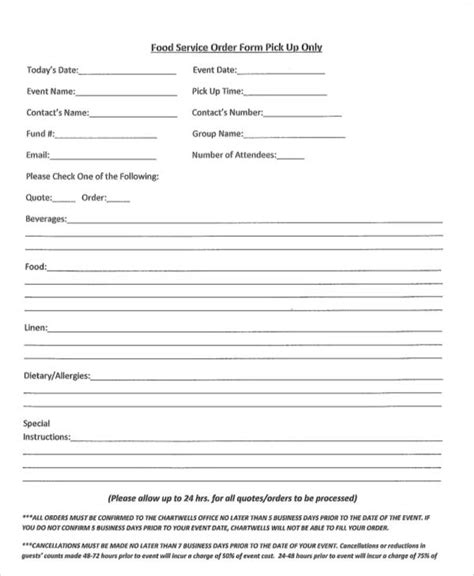 simple html form template 9 simple order forms sle templates