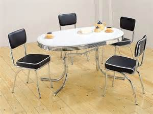 50 s retro table set chrome oval table with 4 chairs
