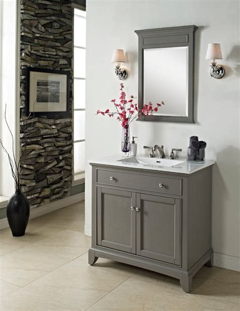 Outdoor Kitchen Sink Cabinet by Fairmont Smithfield 36 Quot Vanity Medium Gray Modern