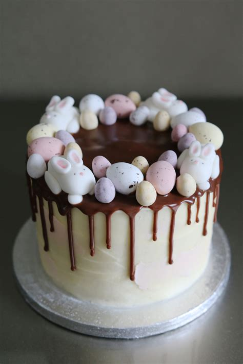 Easter bunny drip cake afternoon crumbs