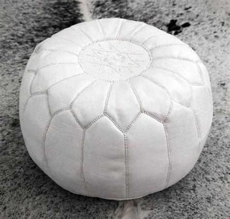 white leather pouf ottoman moroccan pouf leather pouf ottoman poof pouffe pouffes