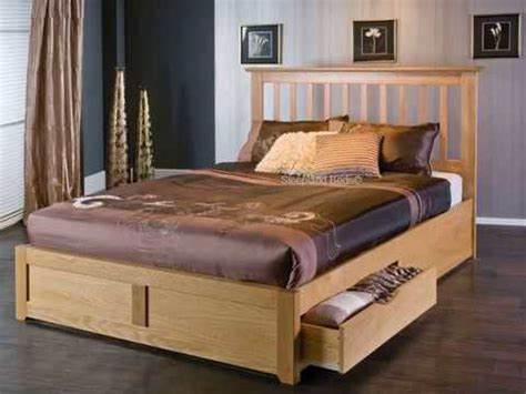 wooden double bed  drawer designs youtube