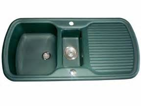 leisure consort green 1 5 bowl caravan sink and waste kit