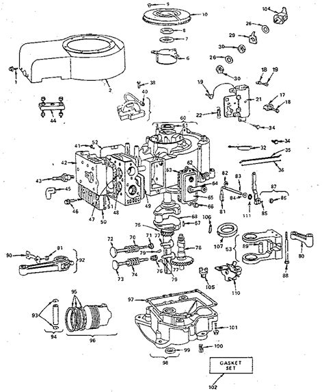 parts diagram for briggs stratton engine briggs stratton engine briggs and stratton parts model