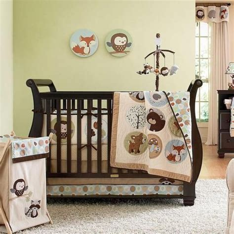 Gender Neutral Nursery Bedding Sets Forest Animal Gender Neutral Baby Nursery 5pc Crib Bedding Set W Owl Fox Ebay For My