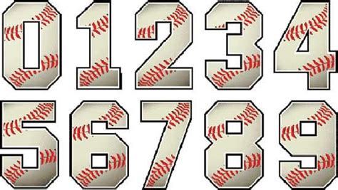Printable Baseball Numbers | baseball numbers designs embroidery fonts pinterest
