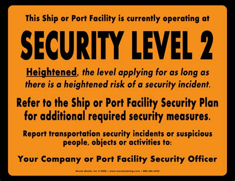 Level 2 Security Officer Examination Answers by Isps Security Level 1 2 3 Signs