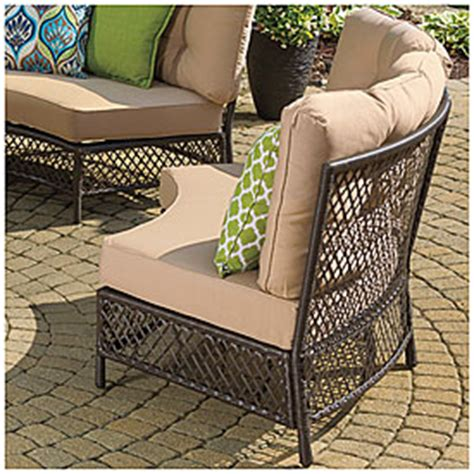wilson and fisher wicker patio furniture view wilson fisher 174 resin wicker circular sofa