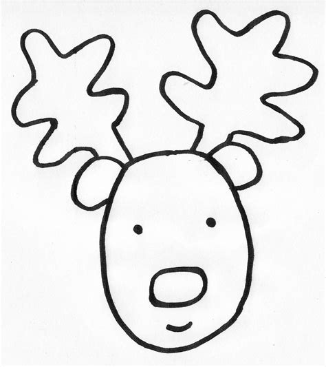 reindeer face template clipart best
