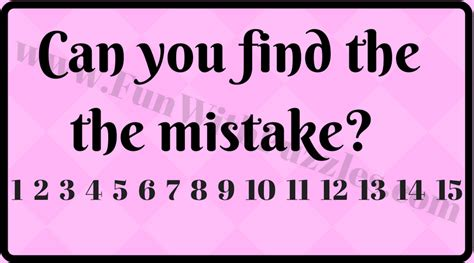 The Mistakes tricky and cool brain teasers of finding mistakes in given