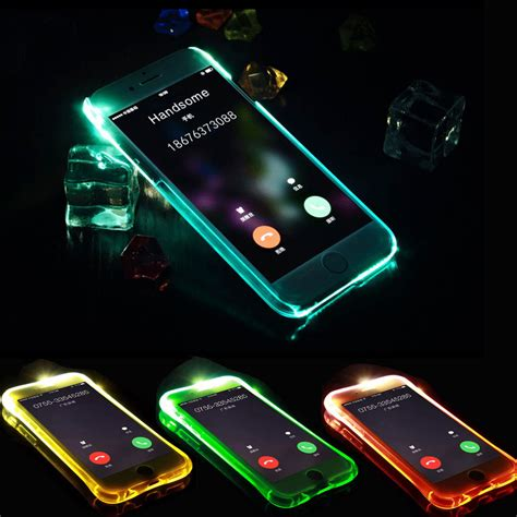 Softcase Tpu Anti With Mirror Samsung J2 Prime aliexpress buy anti knock soft tpu led flash light up remind incoming call cover for