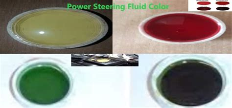 what color should power steering fluid be what is power steering fluid color