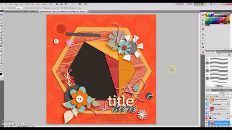 How To Make A Digital Scrapbook Template How To Make A Digital Scrapbook Page Using A Layered Photoshop Template Youtube