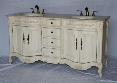 68 inch double sink bathroom vanity antique white 68quotwx22