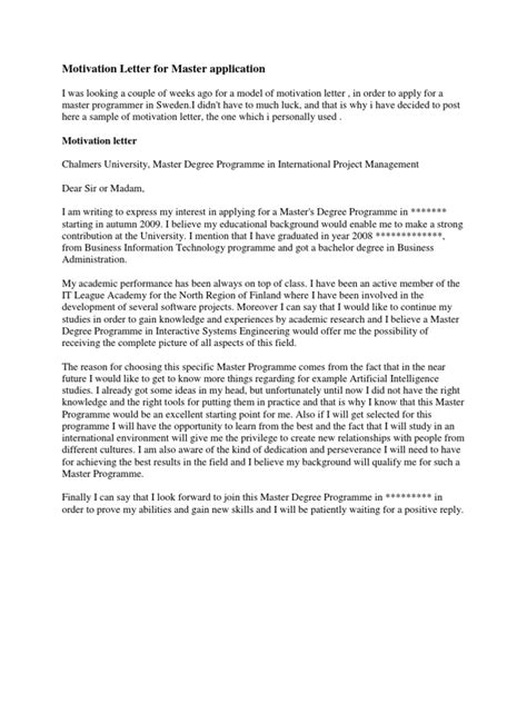 Motivation Letter To Study Abroad motivation letter for master application economics microeconomics