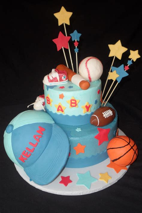 Sports Baby Shower Cakes by Sports Theme Baby Shower Cake Cakecentral