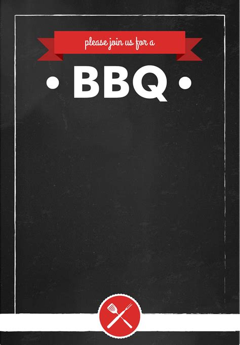 bbq template card bbq invitation summer free printable barbecue