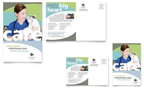 vet clinic postcard template design