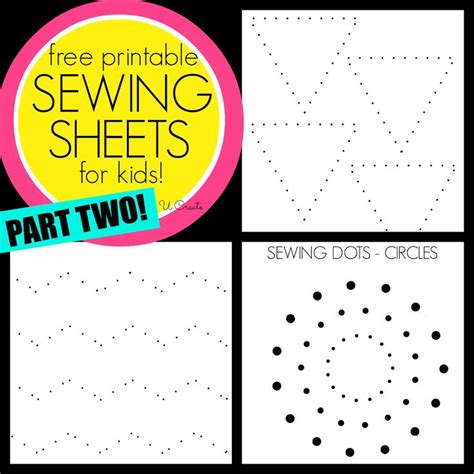 printable practice sewing sheets sewing sheets for kids part two like dot to dots but for