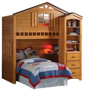 Best Loft Beds Rustic Oak Tree House Bunk Loft Bed W Desk Shelf