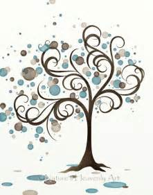 Cheap Wall Decor Stickers blue brown circle whimsical tree wall art 11 x 14 wind