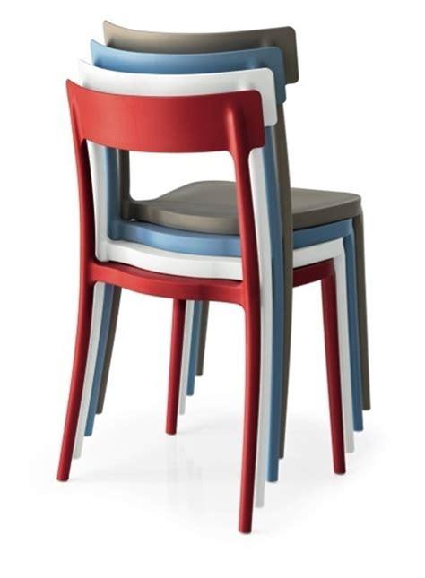 sedia impilabile sedia calligaris argo plastica design impilabile sedie a