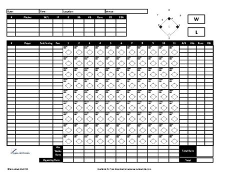 Baseball Score Cards Templates by Baseball Scoresheet Free Lineup And Baseball