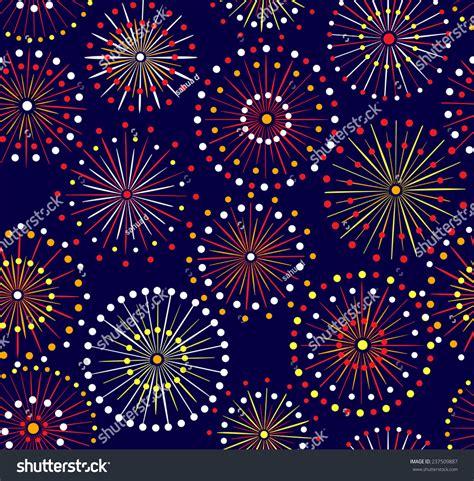 seamless pattern fireworks japanese festival seamless night fireworks pattern stock