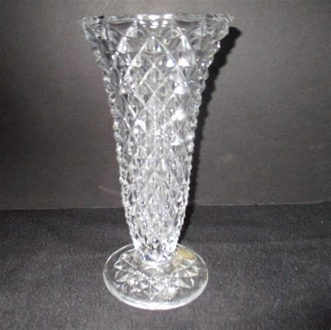 princess house crystal princess house crystal vase with diamond pattern from