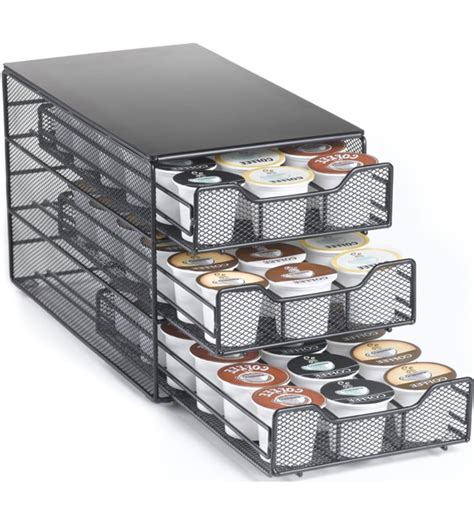 k cup drawer organizer black k cup storage drawer holds 54 in tea and coffee