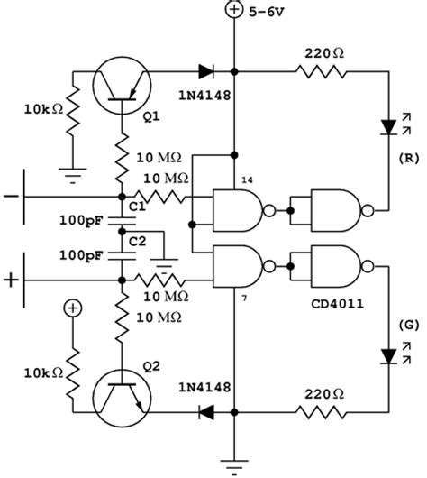 electroscope diagram detect charged bodies with electronic electroscope edn