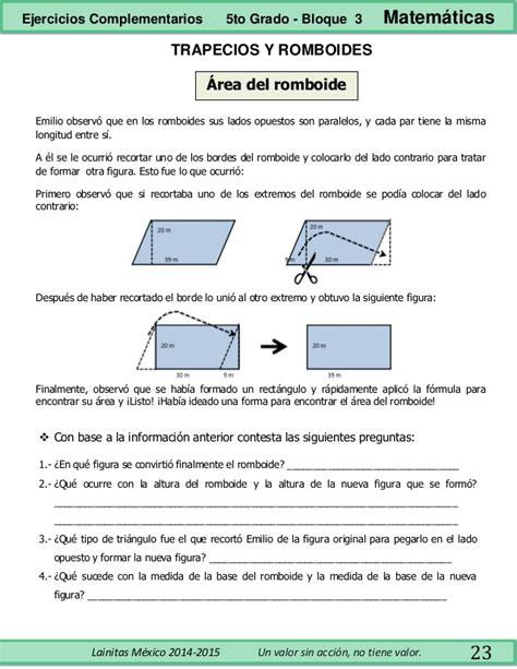 matematicas 5to grado bloques 3 4 y 5 by sbasica issuu 5to grado bloque 3 ejercicios complementarios